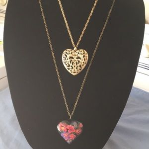 Jewelry - Two heart necklaces